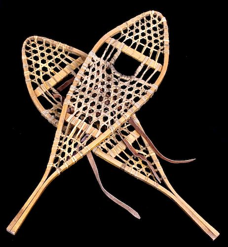 Antique Rawhide and Wood Snowshoes