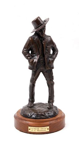 G.C. Wentworth Sunday Duds Bronze Sculpture
