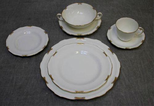 Partial Royal Crown Derby Regency Dinner Service.