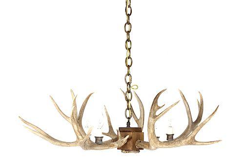 Rustic Deer Antler Mold Chandelier