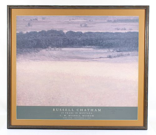 Signed Russell Chatham 25 Years in Montana Poster