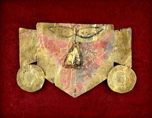 Sican Gilded Silver Death Mask, ex-Arte Primitivo