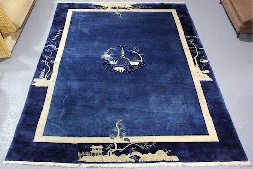 Fine Quality, Hand Knotted Antique Chinese Carpet.