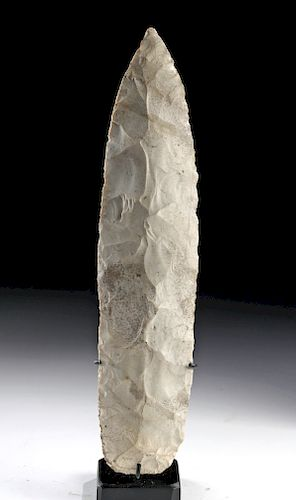 Large Native American Mississippian White Chert Point