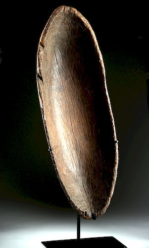 18th C. Polynesian Tonga Islands Wood Feast Bowl