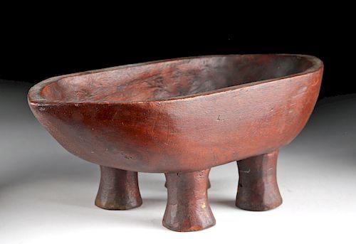 Rare 19th C. Tahitian Wooden Kava Bowl