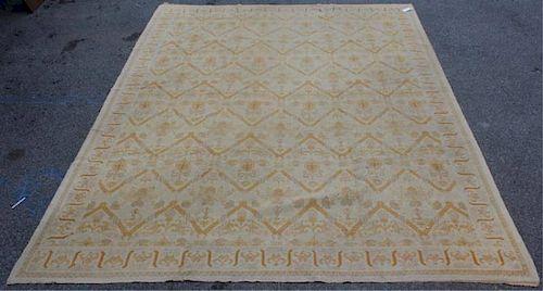 Vintage Handmade Roomsize Oushak Style Carpet.
