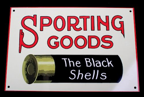 US Ammo & Black Shell Sporting Goods Steel Sign
