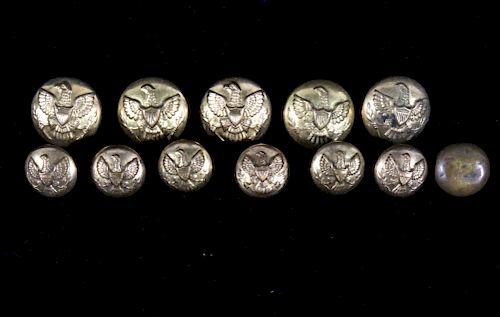 Civil War Era Eagle Brass Buttons