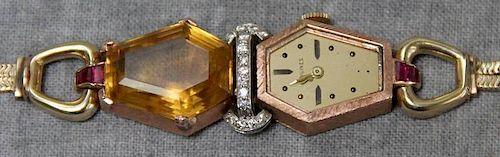 JEWELRY. 14kt Gold Longines Ladies Watch.