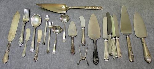 STERLING. Miscellaneous Sterling Flatware Group.