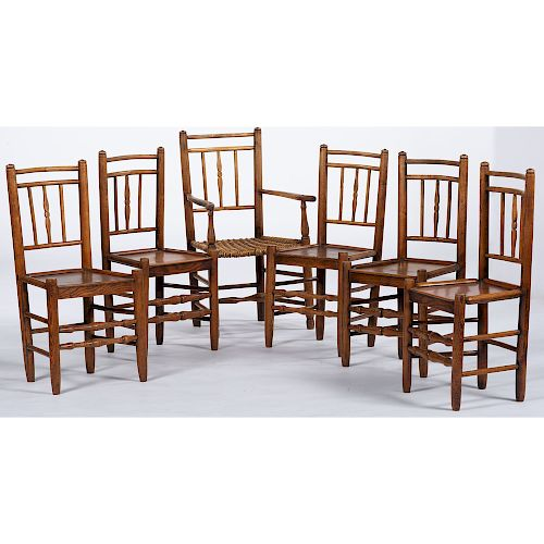 English Queen Anne Country Chairs