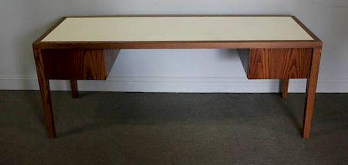 Midcentury Oak 2 Drawer Desk with