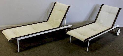 Midcentury Pair of Richard Schultz Chaise Lounges.