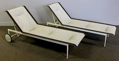 Midcentury Pair of Richard Shultz Chaise Lounges.