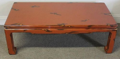 Midcentury Asian Modern Lacquered Coffee Table.