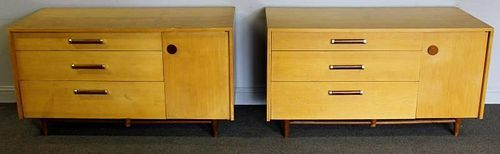 Pair of Midcentury Double Sided Chests.