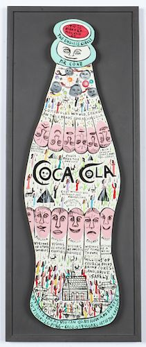 "Howard Finster (1916-2001) ""Coke Bottle"", #6,059"