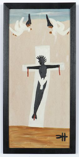 "Clementine Hunter (1886-1988) ""Crucifixion"""