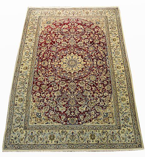 Antique Persian Nain Silk/Wool Rug