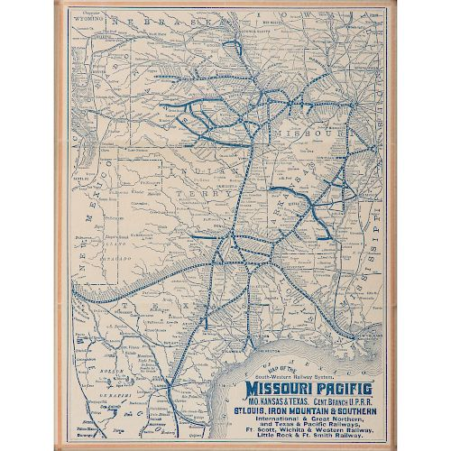 Two Rare Railroad Maps from the Union Pacific and Missouri Pacific ...
