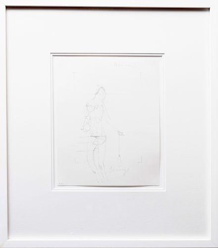 Joseph Beuys (1921-1986):  Drawings for Codices Madrid by Leonardo da Vinci: Three Plates
