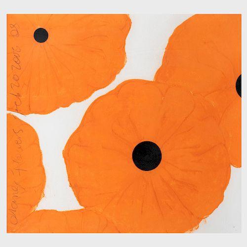 Donald Sultan (b. 1951): Orange Flowers, Feb. 20, 2006