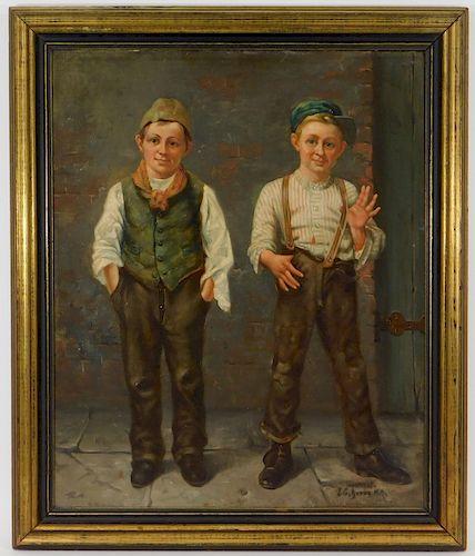 John George Brown American Children Genre Painting
