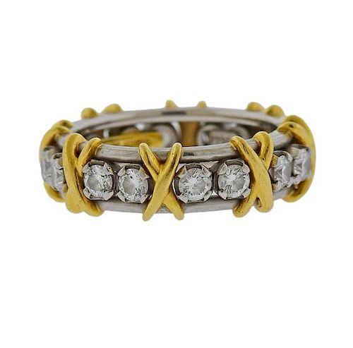 Tiffany & Co Schlumberger Sixteen Stone Diamond Ring