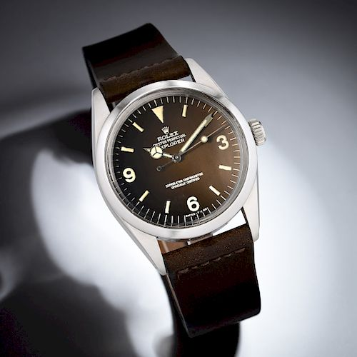 "Rolex Explorer Ref. 1016 with ""Tropical"" Dial in Steel"