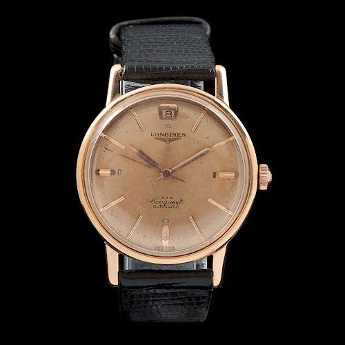 Longines Conquest 18k Rose Gold Wristwatch