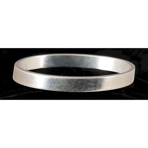 Tiffany & Co. Sterling Silver Oval Bangle Bracelet