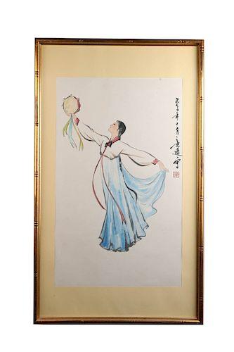 YANG ZHIGUANG (1930-2016), DANCING LADY