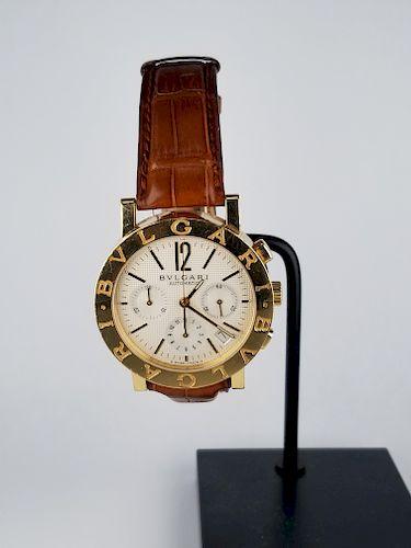 18K Bvlgari 38MM Watch (BB 38 GL CH)