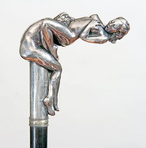 Erotic Silver Dress Cane