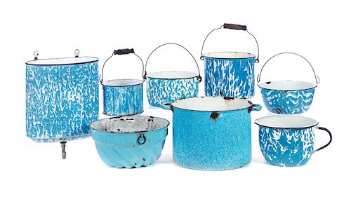 Lot of Early Blue & White Graniteware