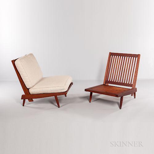 Pair of George Nakashima (1905-1990) Cushion Chairs