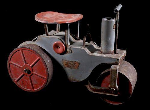 1920's Keystone Ride 'Em Steam Roller Steel Toy