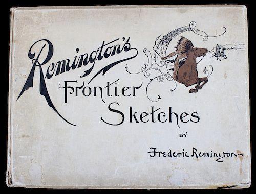 1898 Remington's Frontier Sketches RARE 1st Ed