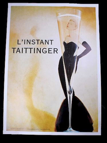 "L'instant Taittinger Grace Kelly 70""x49"" Poster"