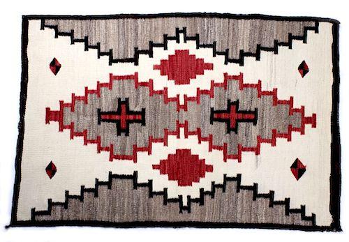 Navajo Klagetoh Hand Woven Wool Rug c. 1925