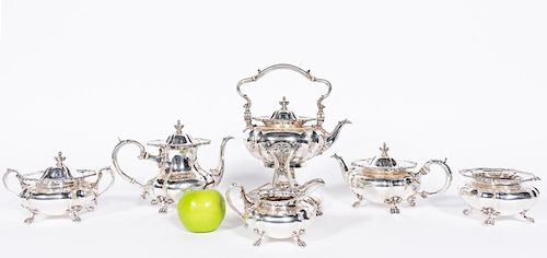 Black, Starr, & Frost 6 PC Sterling Silver Tea Set