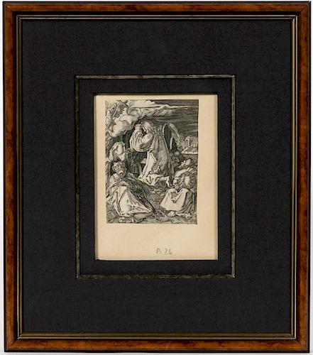 Albrecht Durer, Agony in the Garden, Etching