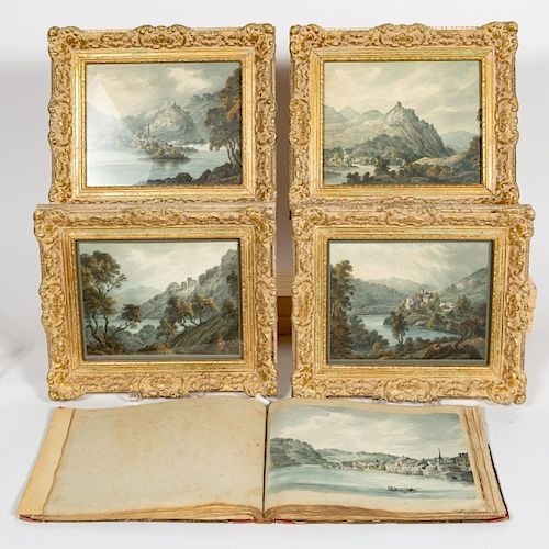 19th Century, Continental Watercolor Journal