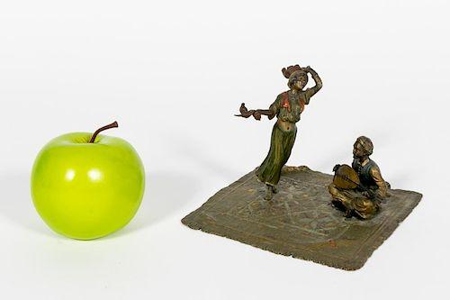 Bergman Cold Painted Bronze, Dancer & Musician