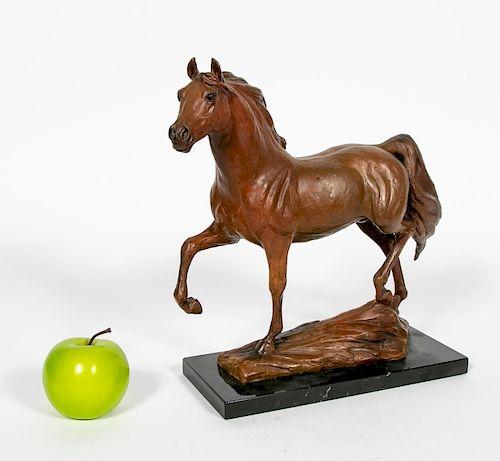 Terri Malec Osborne Signed Bronze Horse, 1995