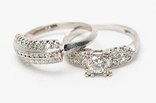 Platinum & Diamond Wedding Ring Set