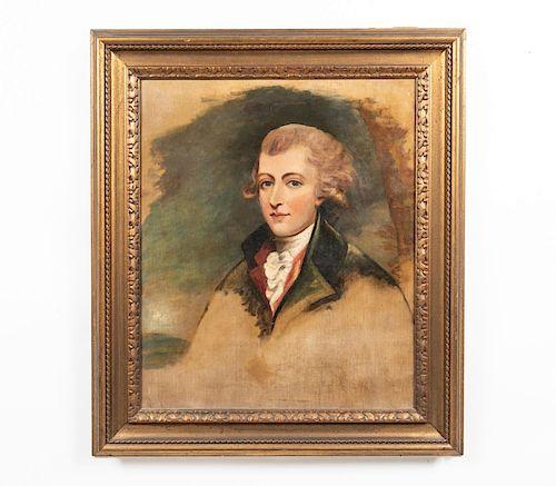 Attr. Gilbert Stuart Portrait of a Gentleman, O/C
