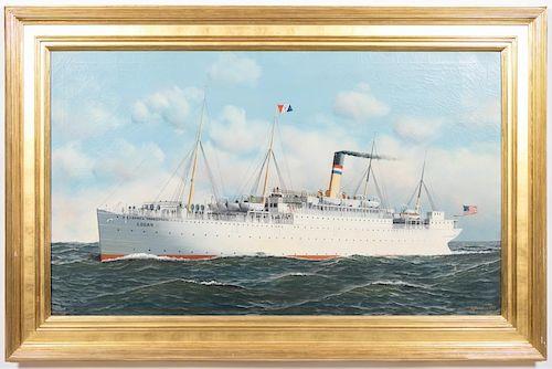 Antonio Jacobsen, USAT Logan Ship Portrait, O/C