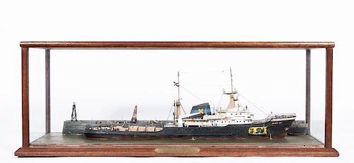 "Cased Model Ship, ""Zwarte Zee"" Circa 1964"